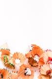 Aparas coloridos do lápis para o fundo Foto de Stock Royalty Free