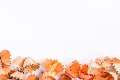 Aparas coloridos do lápis para o fundo Fotografia de Stock Royalty Free