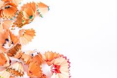 Aparas coloridos do lápis para o fundo Fotografia de Stock