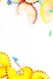 Aparas coloridos no fundo branco Imagens de Stock Royalty Free
