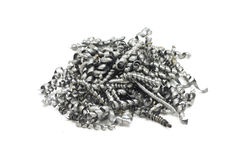 Aparas de aço do metal Fotos de Stock Royalty Free