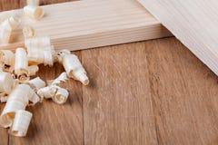 Aparas de madeira Imagens de Stock