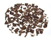 Aparas e ondas escuros do chocolate foto de stock