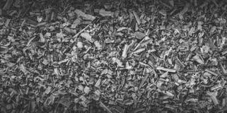 Aparas, fundo e textura de madeira, tonificação preto e branco Fotos de Stock Royalty Free