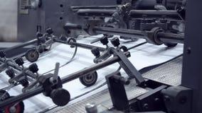 Aparato de la tipografía de la prensa almacen de video