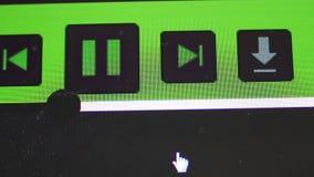 Aparato de lectura de la pista en una pantalla de ordenador metrajes