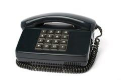 Aparato de teléfono del color negro imágenes de archivo libres de regalías