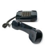 Aparato de teléfono del color negro fotografía de archivo