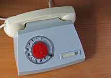 Aparato de teléfono retro soviético Fotos de archivo libres de regalías