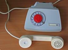 Aparato de teléfono retro soviético Fotografía de archivo