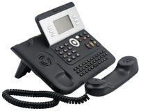 Aparato de teléfono de la oficina, 6 claves suaves, off-hook Foto de archivo