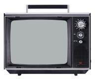 Aparato de TV De la vendimia Fotografía de archivo