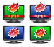 Aparato de TV De la venta Imagenes de archivo