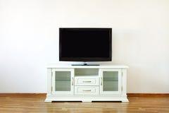 Aparato de TV En el soporte Foto de archivo