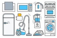 Aparato electrodoméstico stock de ilustración