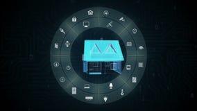 Aparato electrodoméstico elegante de IoT, Internet de cosas, inteligencia artificial stock de ilustración