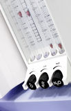 Aparato médico moderno del rotámetro Fotografía de archivo
