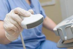 Aparato médico del ultrasonido Fotografía de archivo libre de regalías