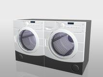 Aparatos electrodomésticos, arandela y secador. fotos de archivo