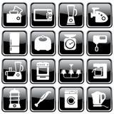 Aparatos electrodomésticos de la cocina Foto de archivo libre de regalías