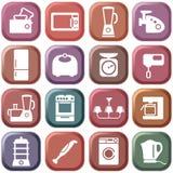 Aparatos electrodomésticos de la cocina Foto de archivo