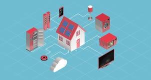 Aparatos electrodomésticos que conectan con la computación de la nube libre illustration