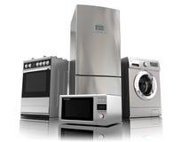 Aparatos electrodomésticos Sistema de técnicas de la cocina del hogar Imágenes de archivo libres de regalías