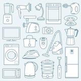 Aparatos electrodomésticos un fondo stock de ilustración