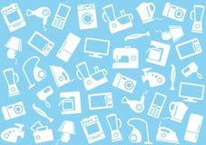 Aparatos electrodomésticos un fondo Foto de archivo libre de regalías
