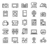Aparatos electrodomésticos y vector de los iconos del equipo moderno Fotografía de archivo libre de regalías