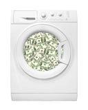 Aparatos electrodomésticos - lavadora para lavar billetes de banco del dólar Imagen de archivo