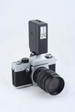 aparaty fotograficzne filmie rocznik flash Obrazy Royalty Free