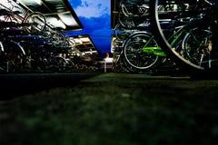Aparcamiento de la bicicleta Foto de archivo libre de regalías
