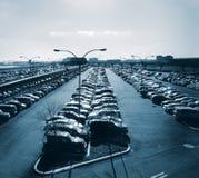 Aparcamiento en el aeropuerto foto de archivo libre de regalías