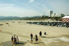 Aparcamiento, Santa Monica Beach, California, los E.E.U.U. imagen de archivo libre de regalías