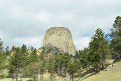 Aparecimento da torre do ` s do diabo Fotos de Stock Royalty Free