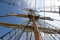 Aparejo alto de la nave Imagen de archivo libre de regalías