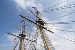 Aparejo alto de la nave Imagen de archivo