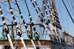 Aparejo alto de la nave del vintage Imagen de archivo libre de regalías