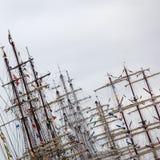 Aparejo de la nave de la vela Foto de archivo libre de regalías