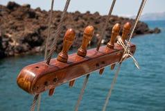 Aparejo de la nave de la vela Imagen de archivo libre de regalías