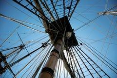 Aparejo de la nave de la vela Foto de archivo
