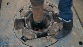 Aparejo de la perforación petrolífera almacen de video