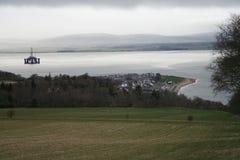 Aparejo de petróleo, Cromarty Firth, Escocia Imagenes de archivo