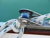 Aparejo del barco de vela Foto de archivo libre de regalías