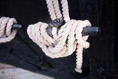 Aparejo del barco de vela: Listón imagen de archivo