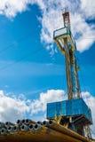 Aparejo para los pozos del petróleo y gas de la perforación Foto de archivo libre de regalías