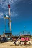 Aparejo para los pozos del petróleo y gas de la perforación Fotografía de archivo
