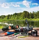 Aparejos de pesca foto de archivo