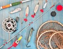 Aparejos de pesca Imágenes de archivo libres de regalías
